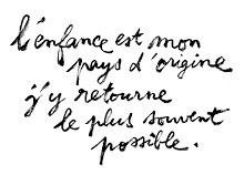 citation de Rémi Courgeon sur l'enfance